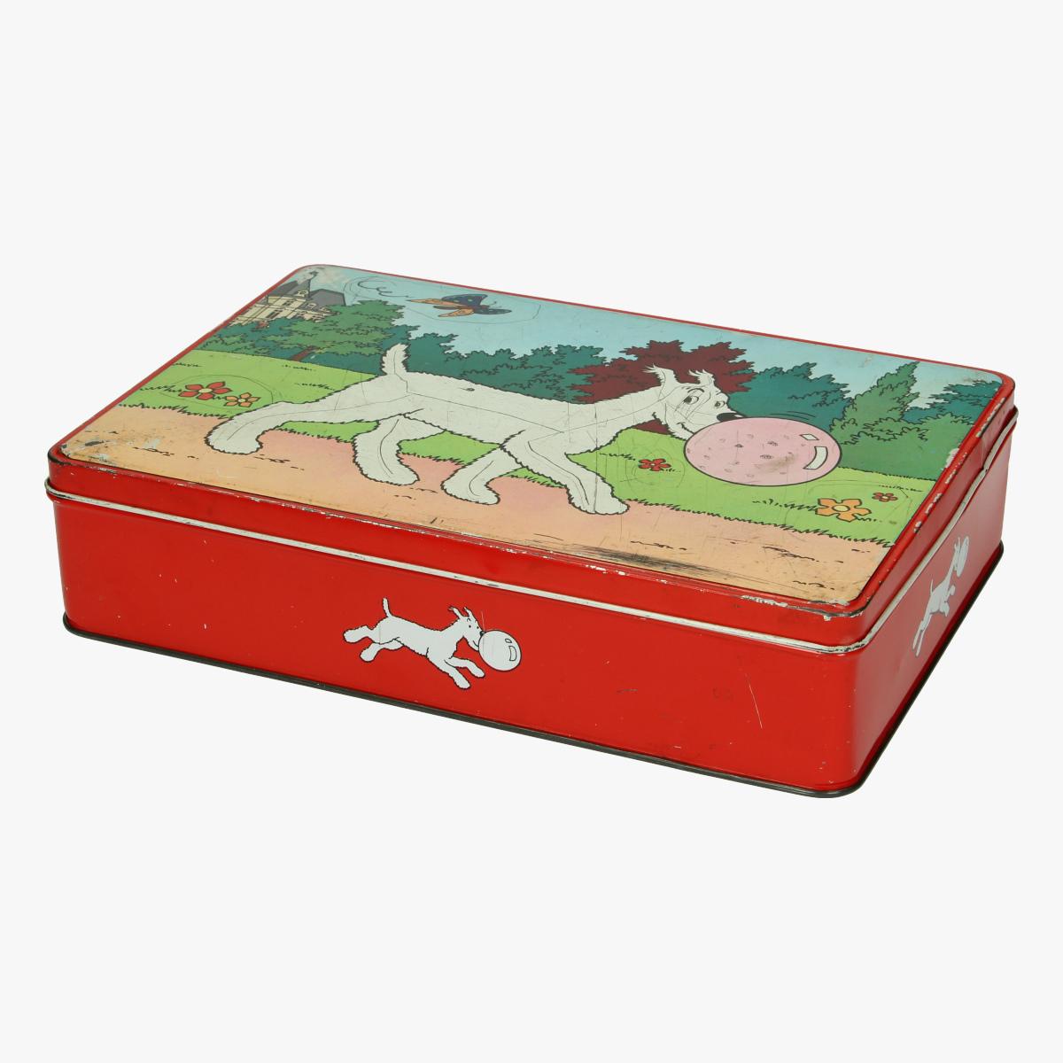 Afbeeldingen van Blikken doos Kuifje Bobbie