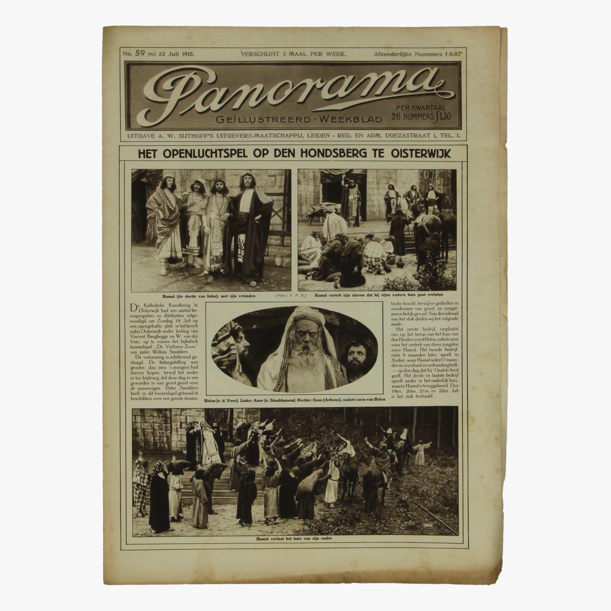Afbeeldingen van oude weekblad panorama N°59  22 juli 1915.