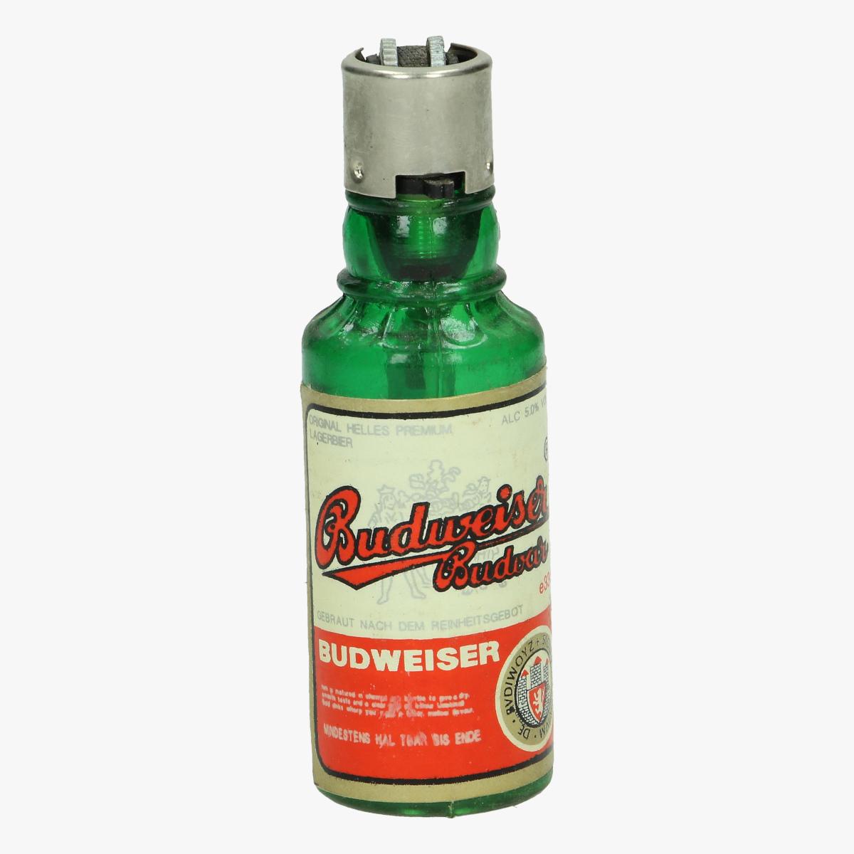 Afbeeldingen van aansteker flesje Budweiser navulbaar