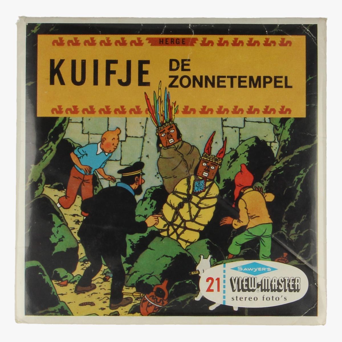 Afbeeldingen van View-Master Kuifje. De Zonnetempel. Hergé. Nr. B 542.