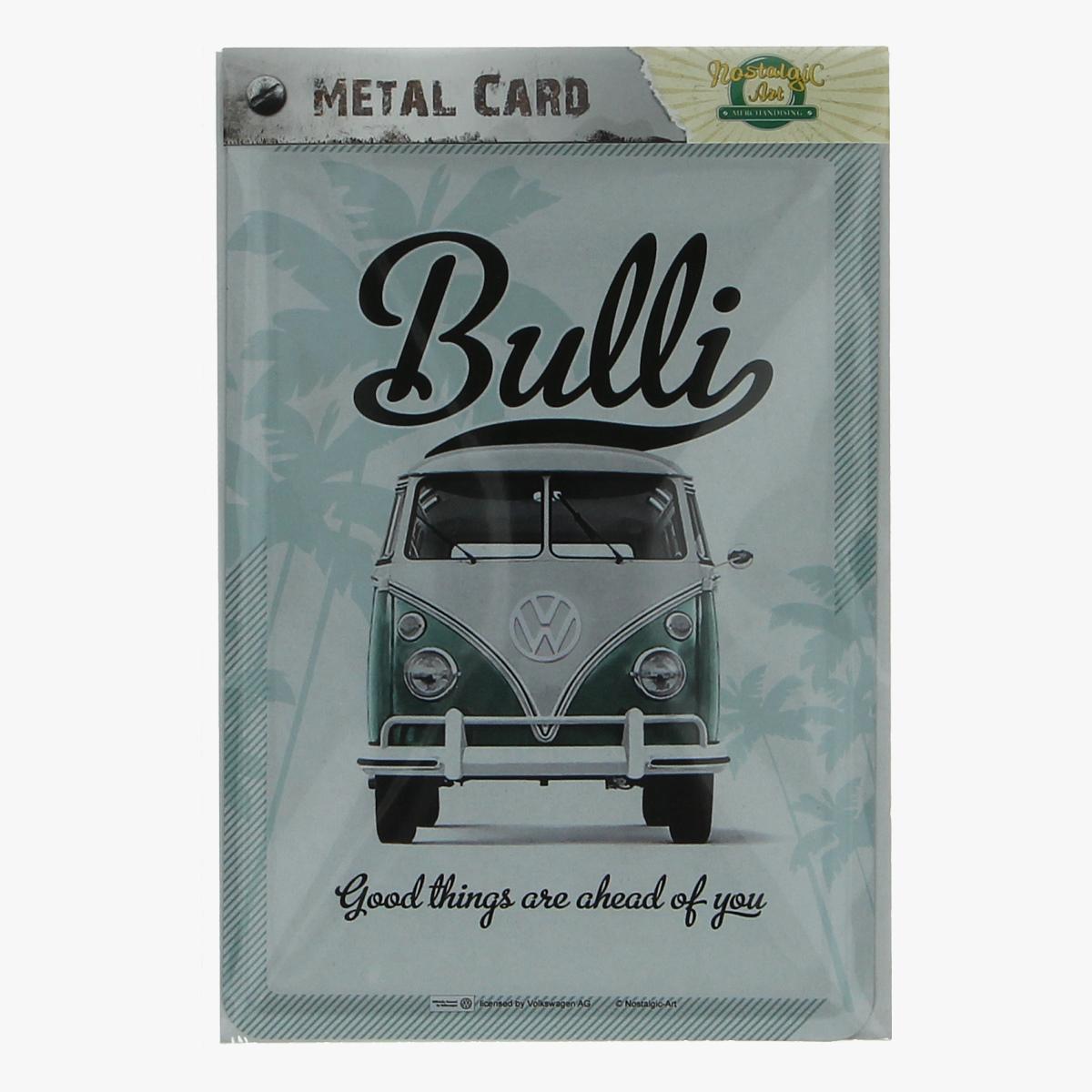 Afbeeldingen van metal card bulli volkswagen busje
