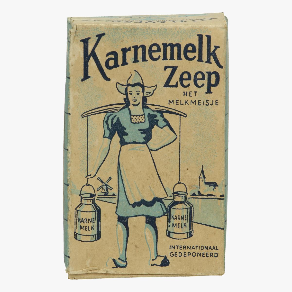 Afbeeldingen van karnemelk zeep doos het melkmeisje Het Klaverblad Haarlem
