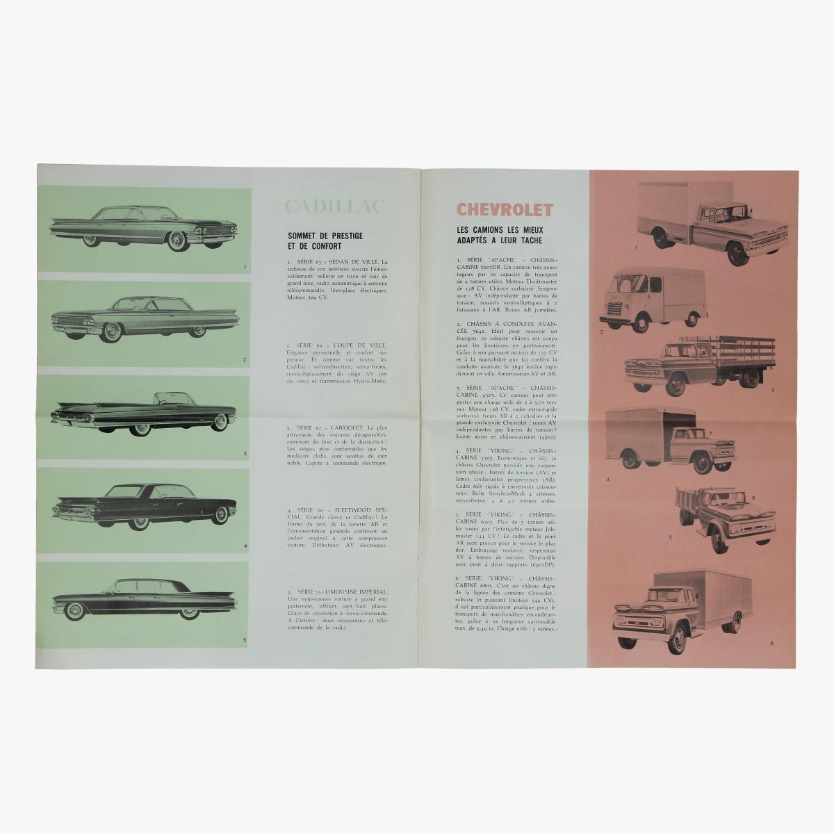 Afbeeldingen van reclame folder general motors 1961