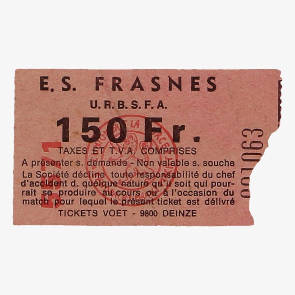 Afbeeldingen van voetbalticket E.S FRASNES U.R.B.S.F.A.