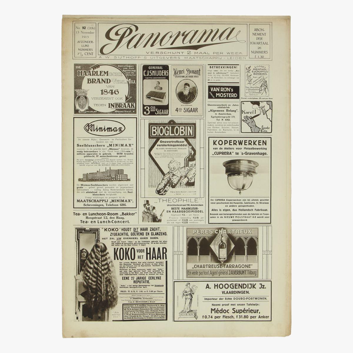 Afbeeldingen van oude weekblad panorama N°92 15 nov 1915