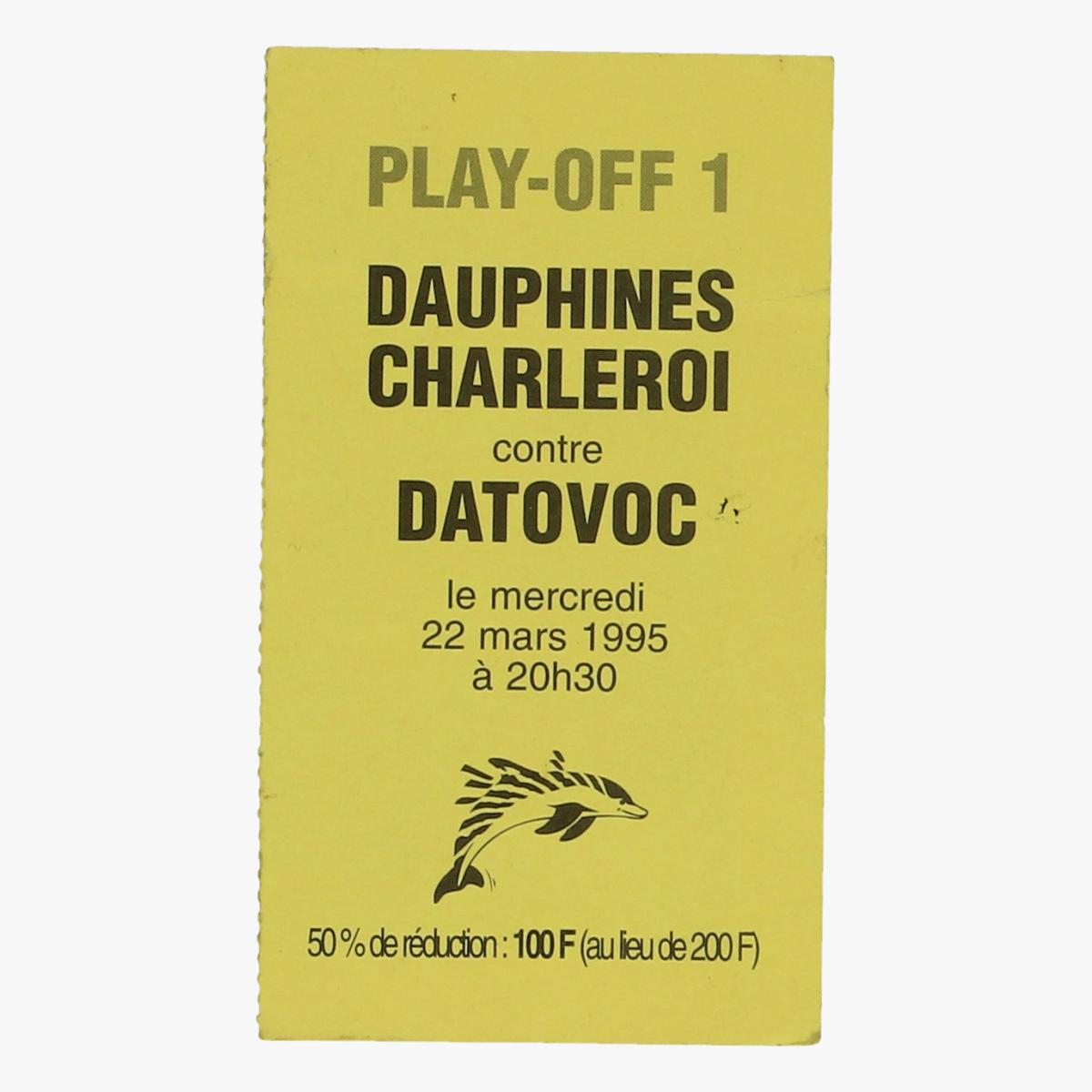 Afbeeldingen van dauphines Charleroi play off 1 22/03/1995