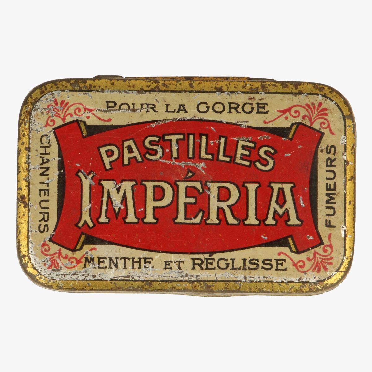Afbeeldingen van blikken doosje pastilles imperia