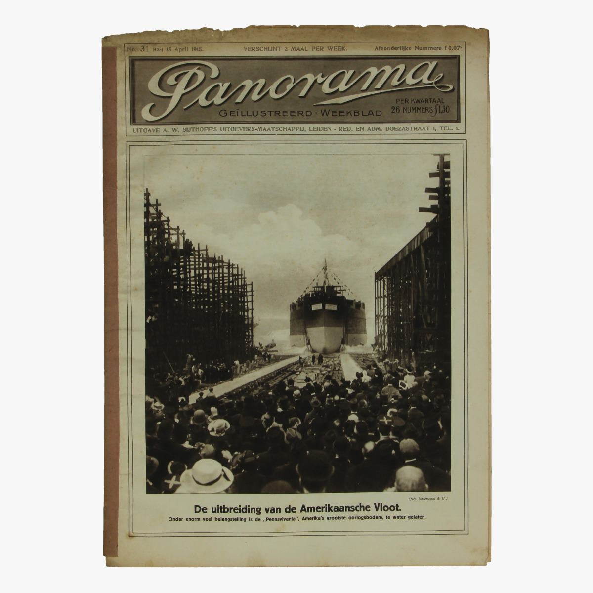 Afbeeldingen van oude weekblad panorama N°31  15 april 1915.