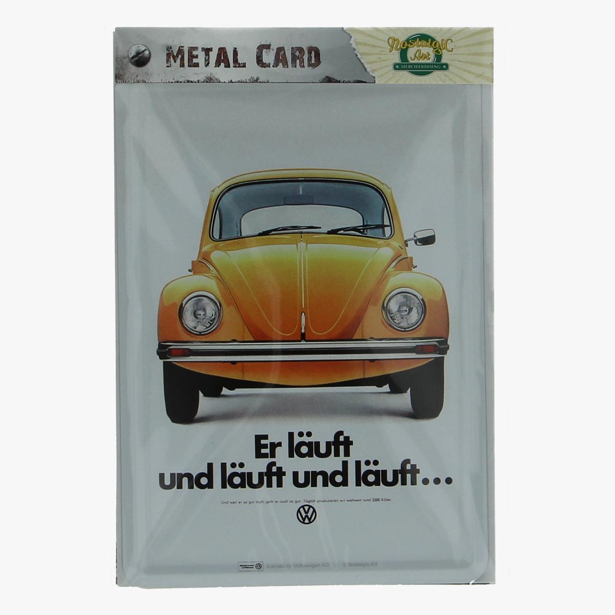 Afbeeldingen van metal card er läuft und läuft und läuft volkswagen