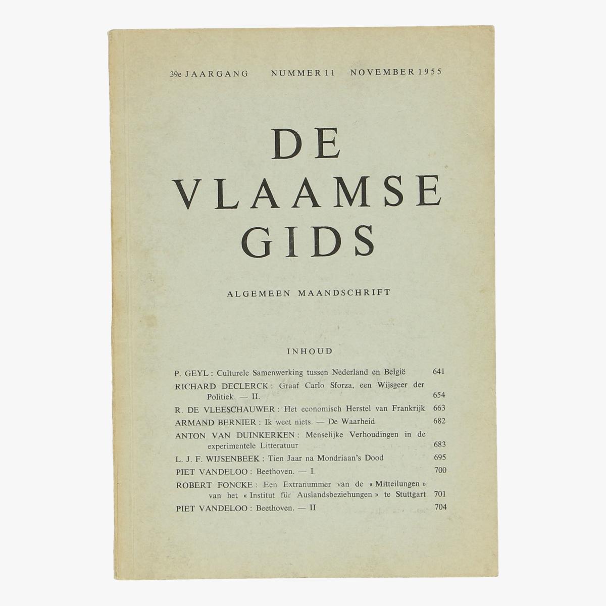 Afbeeldingen van De Vlaamse gids nr 11 1955