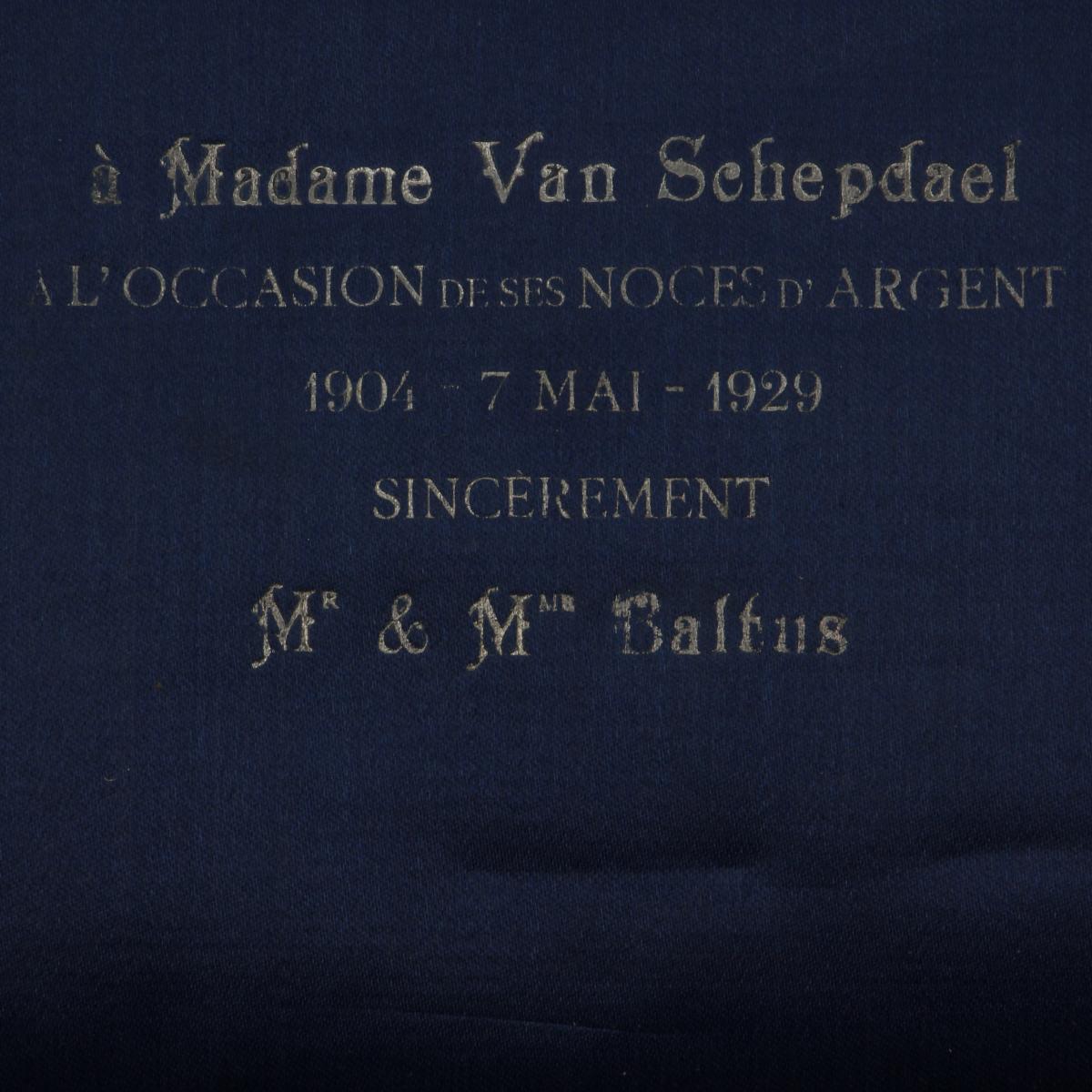 Afbeeldingen van Zilveren herinnerings bestekset Noces d'Argent 1929