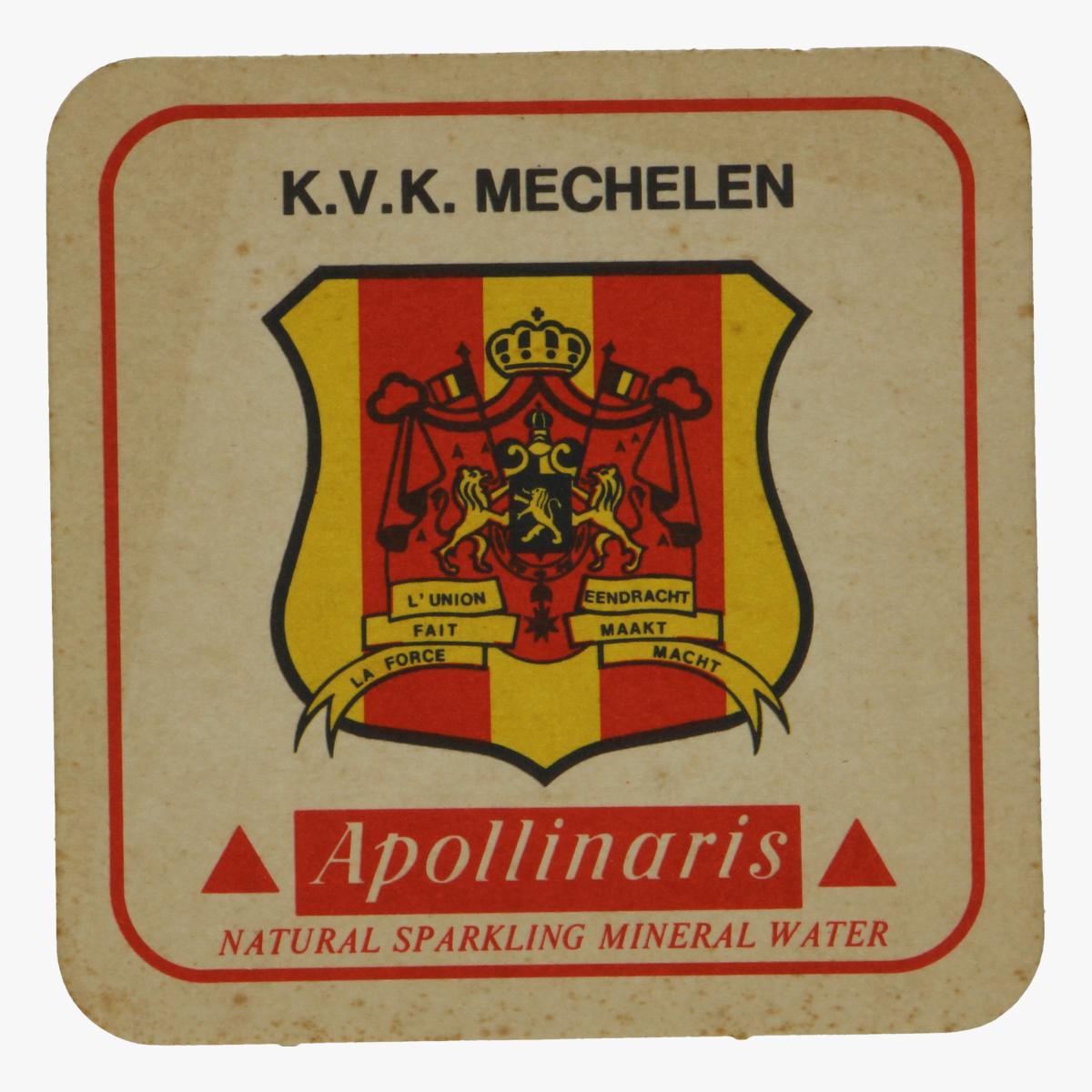 Afbeeldingen van bierkaartje k.v.k. mechelen