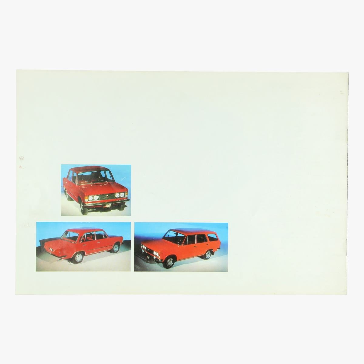 Afbeeldingen van oude reclame folder fiat polski 125p