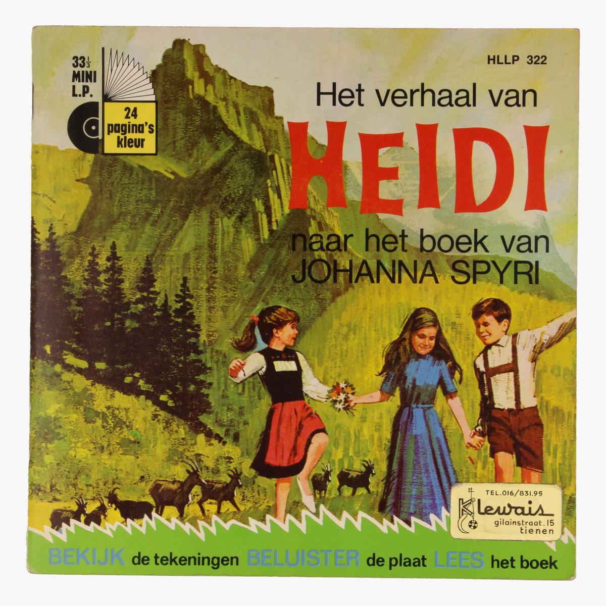 Afbeeldingen van Singel Walt Disney Het verhaal van Heidi