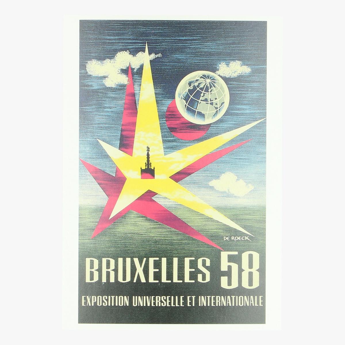 Afbeeldingen van postkaart Affiche wereldtentoonstelling bxl 1958 (repro)