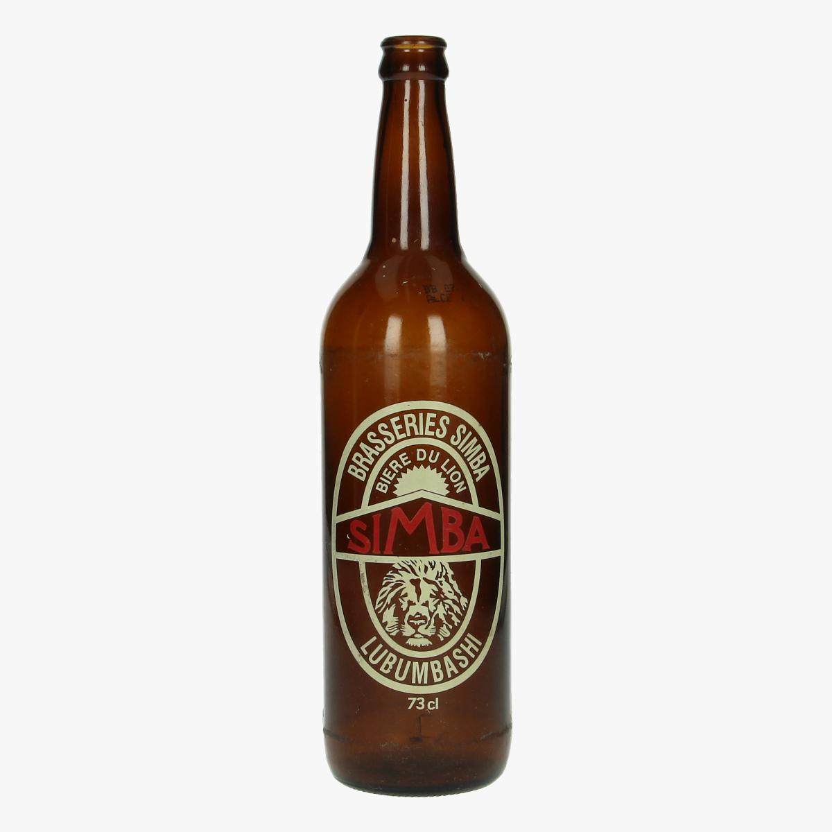 Afbeeldingen van oude bierfles simba