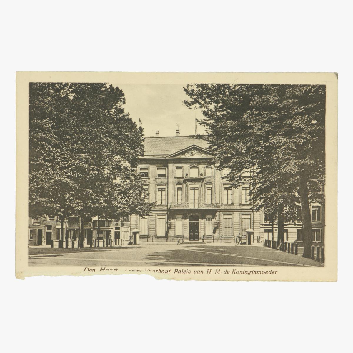 Afbeeldingen van Den Haag - Lange Voorhout Paleis van H. M. de Koninginmoeder. Postkaart . Uitgeverij Artur Klitzsch