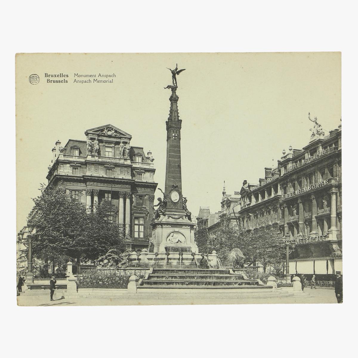 Afbeeldingen van oude postkaart bruxelles monument anspach