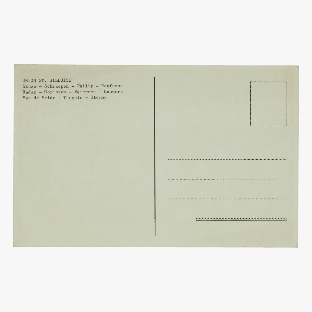 Afbeeldingen van oude postkaart voetbal union st. gilloise