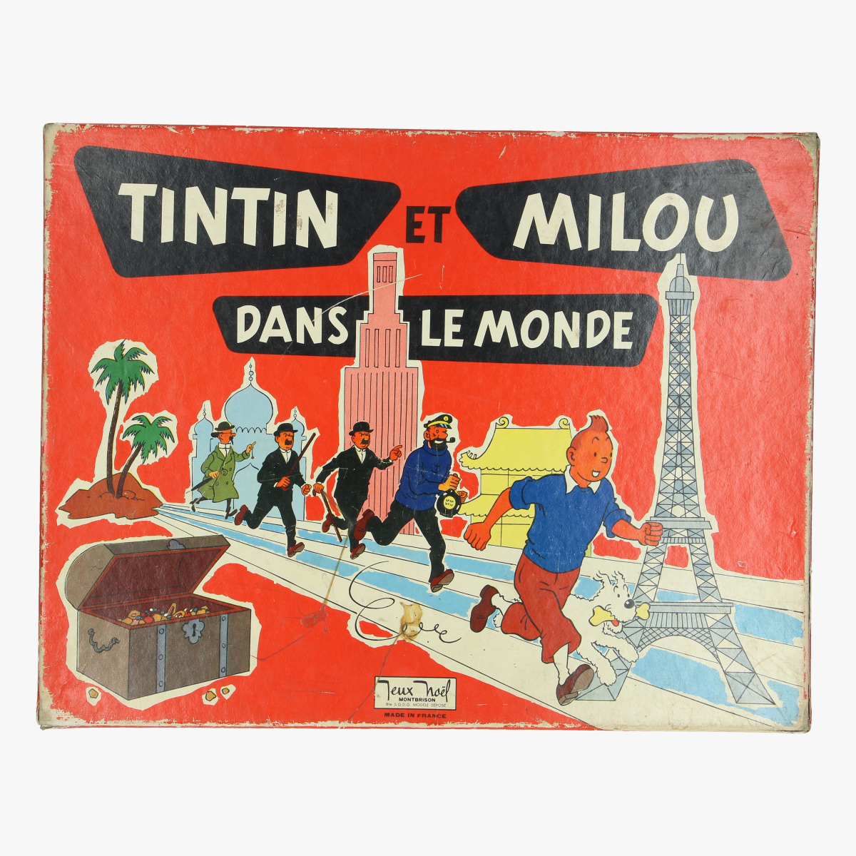 "Afbeeldingen van oude bordspel kuifje '' tintin et milou dans le monde "" made in france"