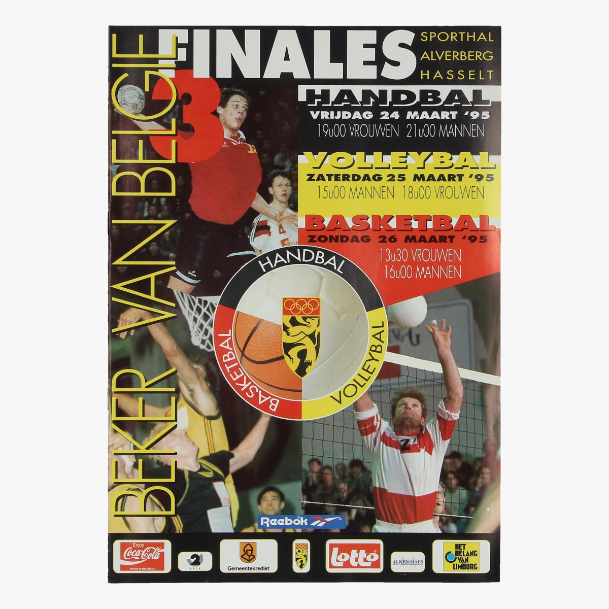 Afbeeldingen van tijdschrijft sporthal alverberg Hasselt 1995