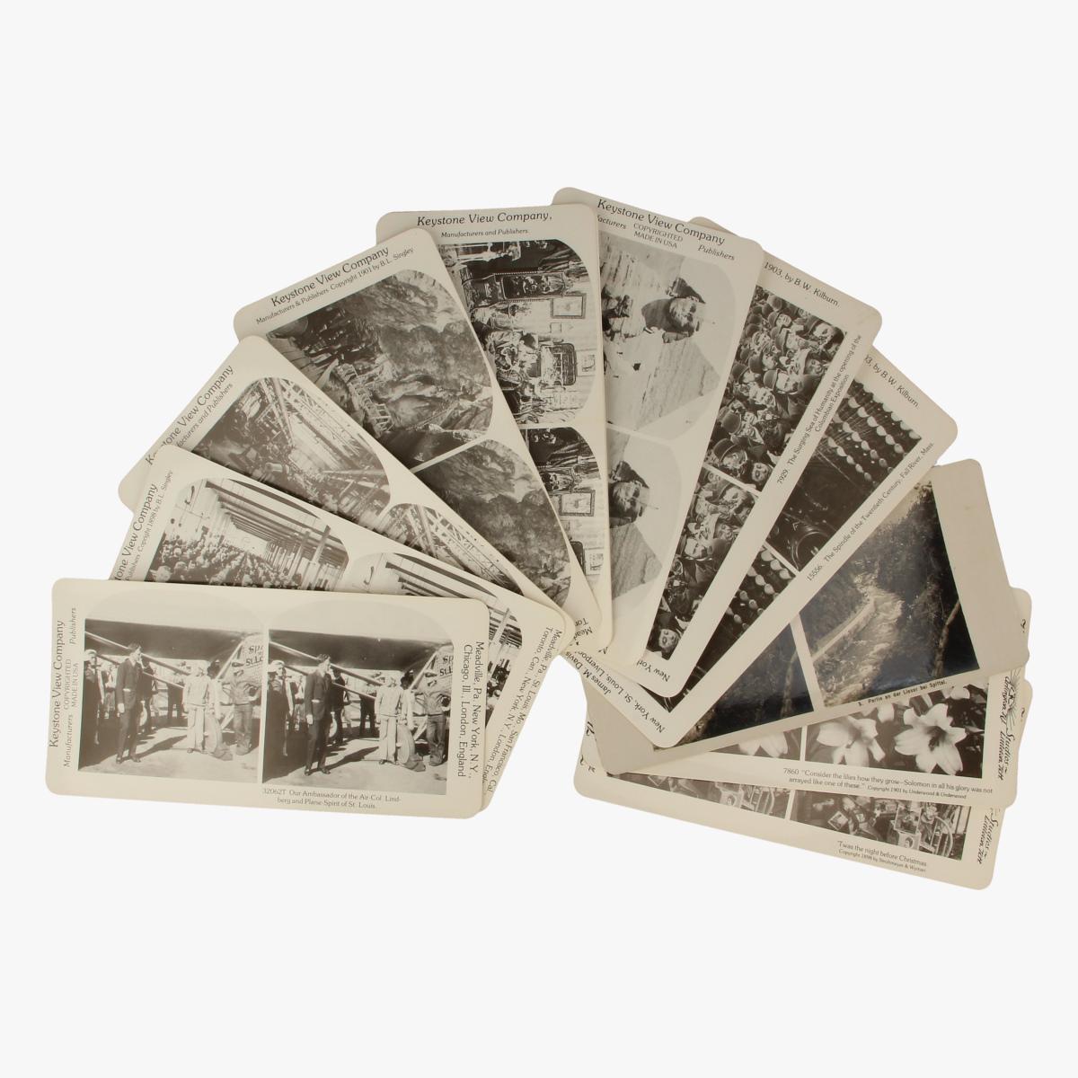 Afbeeldingen van Keystone View Company. Postkaarten.