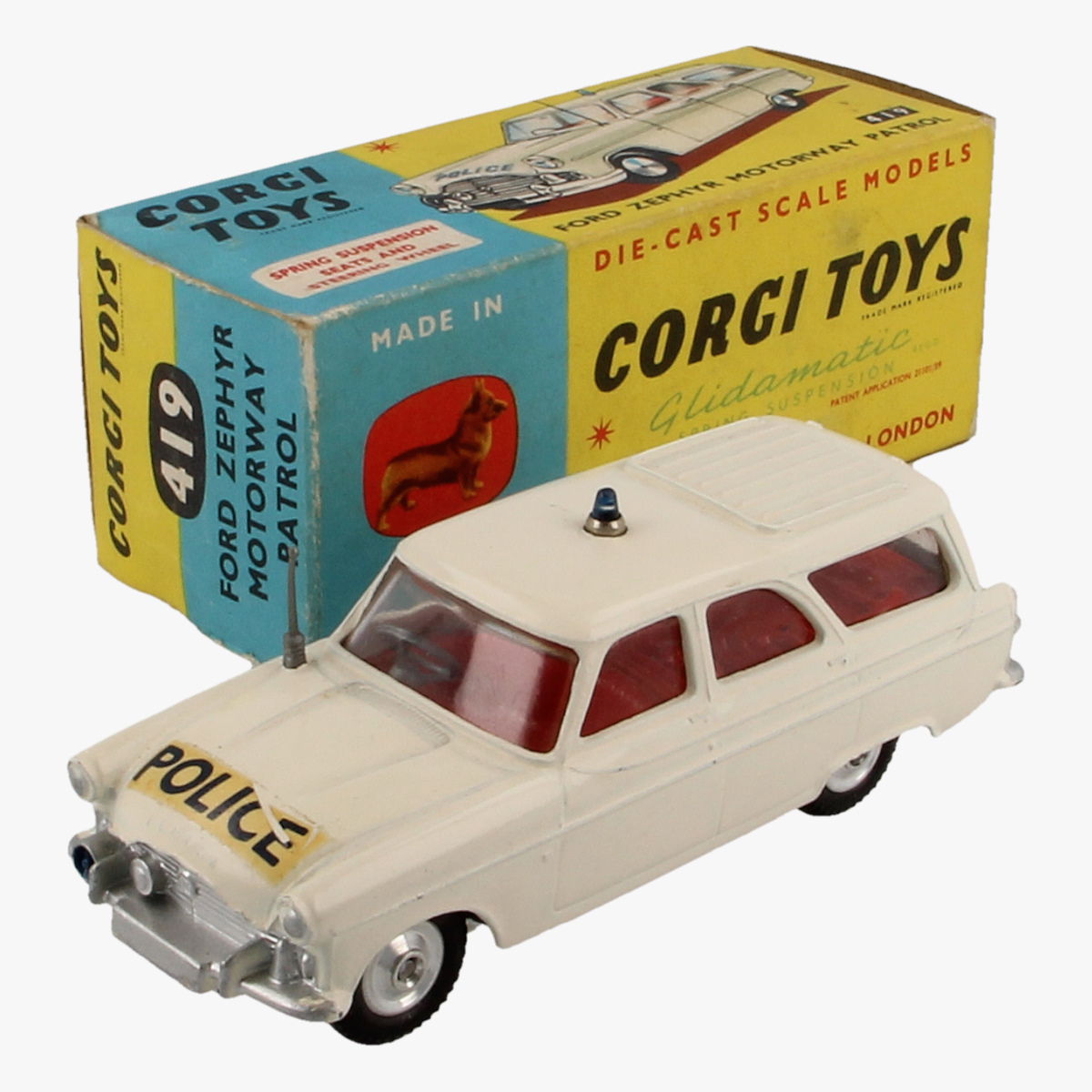 Afbeeldingen van Corgi Toys. Ford Zephyr Motorway Patrol 419