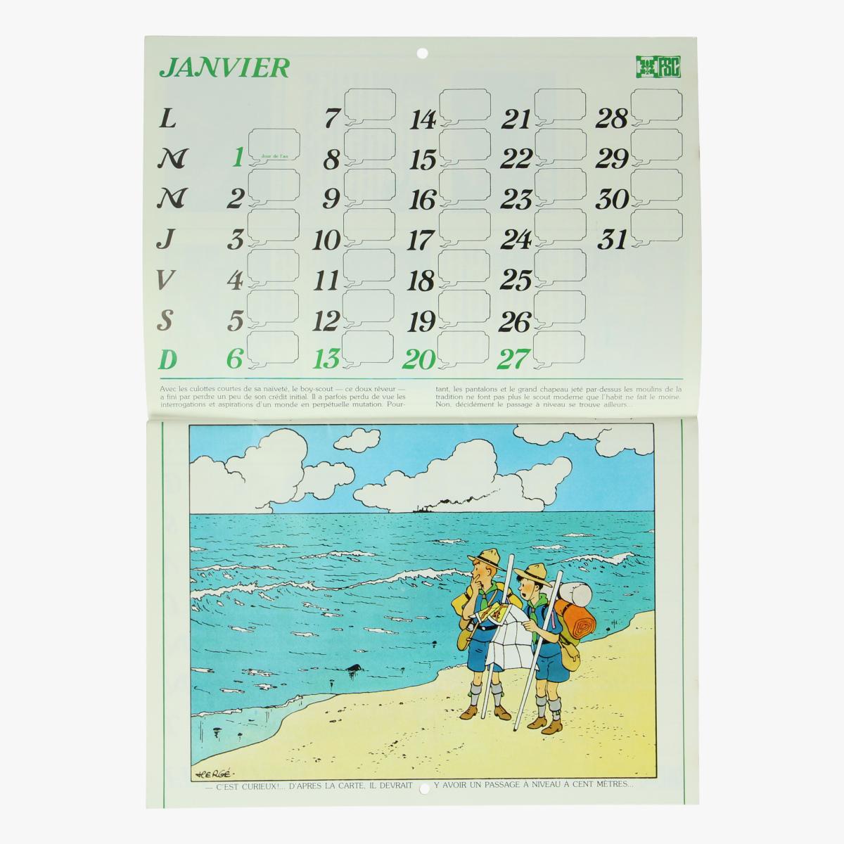 Afbeeldingen van Kalender Tintin & Scouts 1980