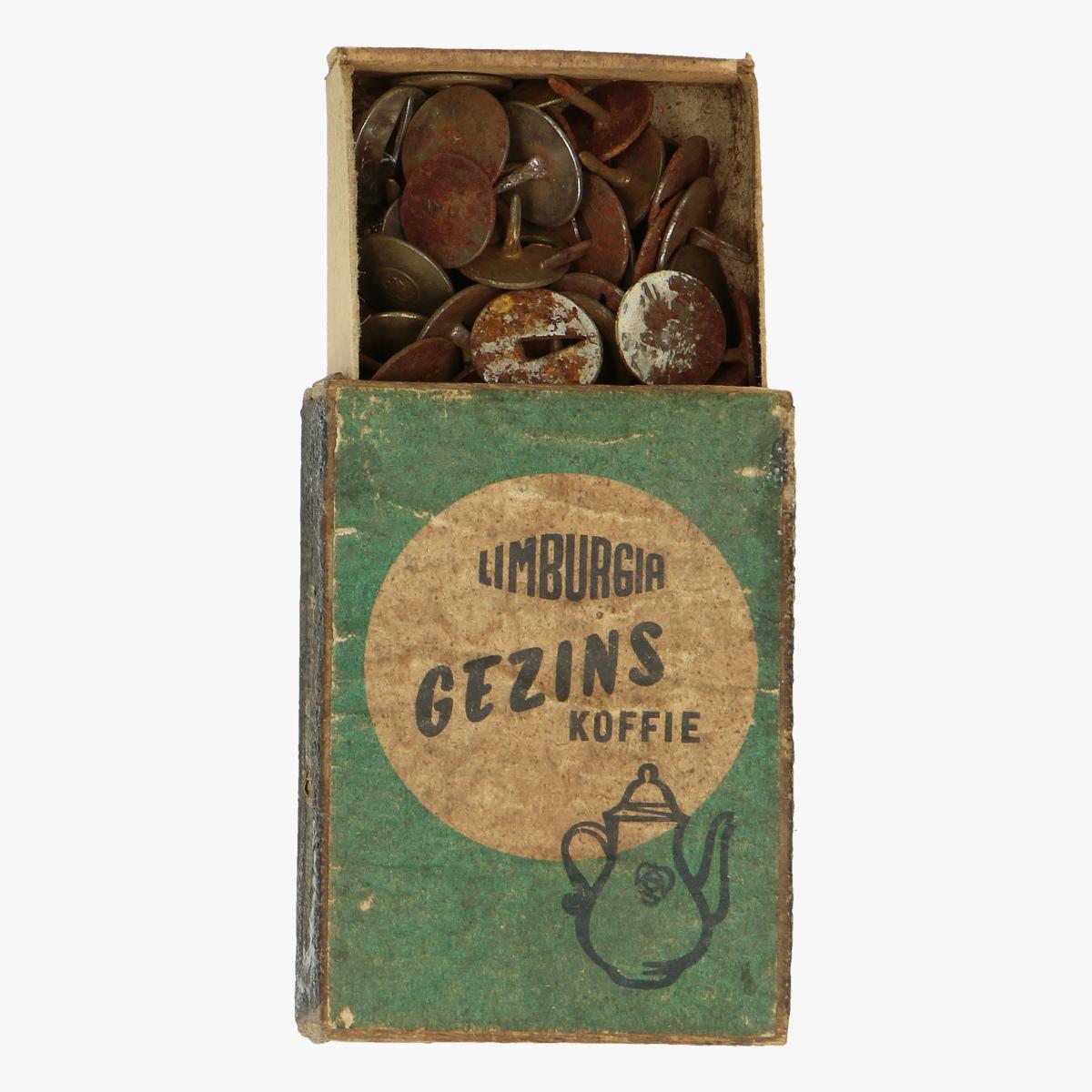 Afbeeldingen van oude doosje limburgia gezins koffie punaises