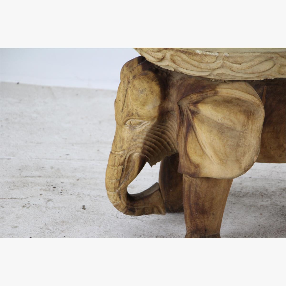 Afbeeldingen van massieve hout salontafel olifant