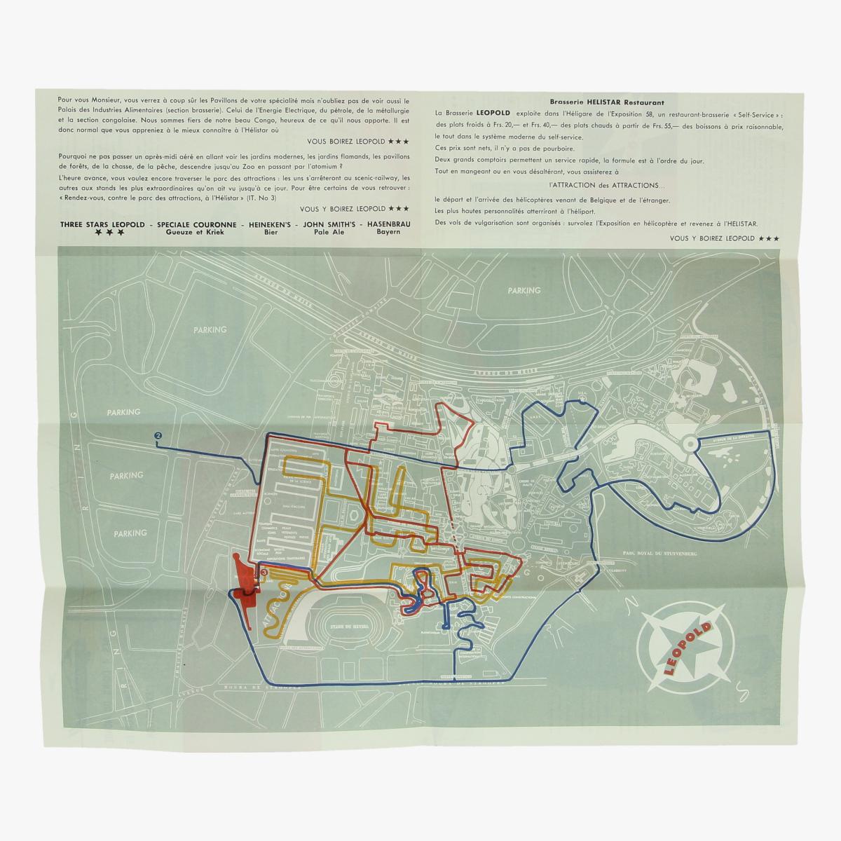 Afbeeldingen van expo 58 des 4 du monde ..en plein coeur de l' exposition sabena , leopold