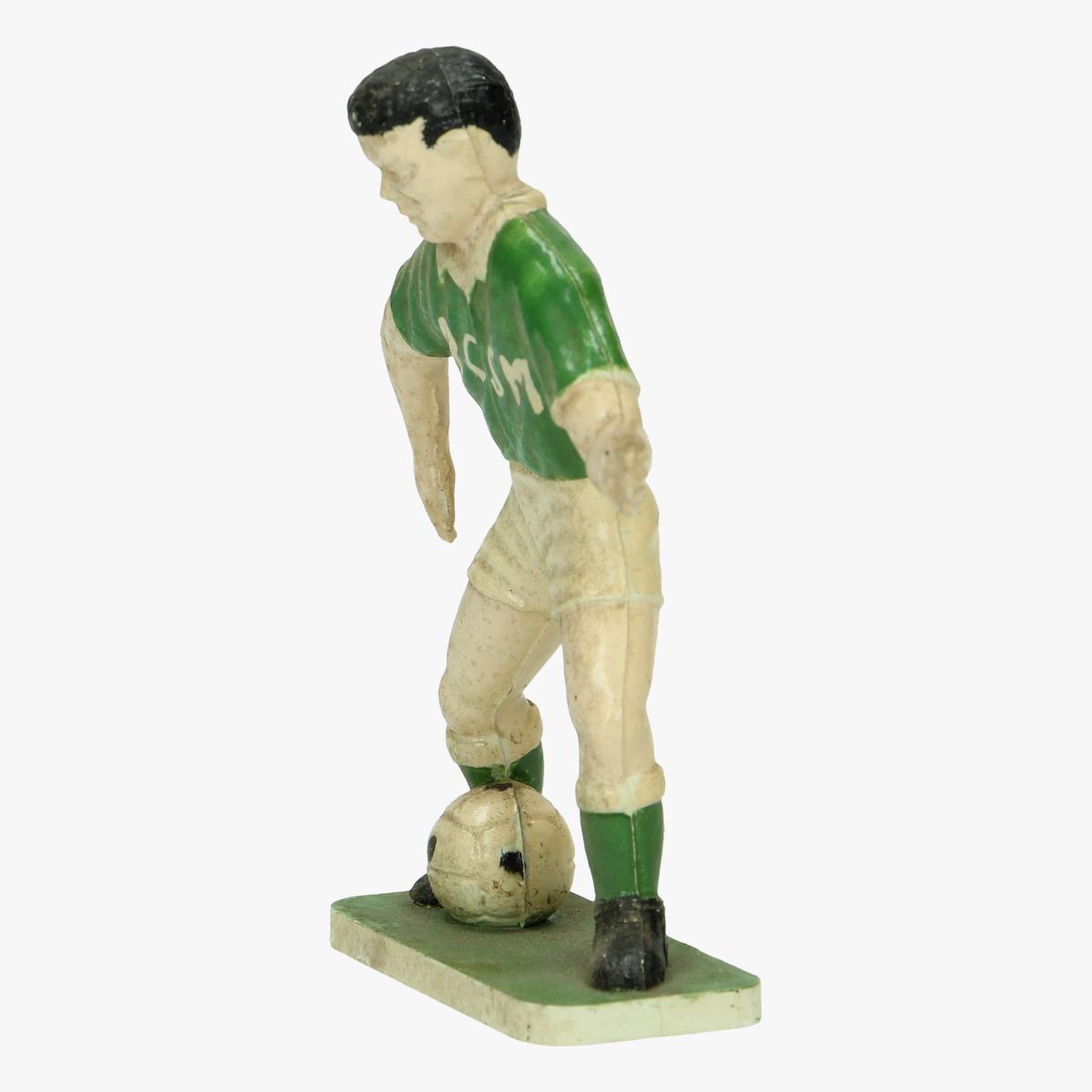 Afbeeldingen van kunstof beeldje voetballe rscm 9 cm groot