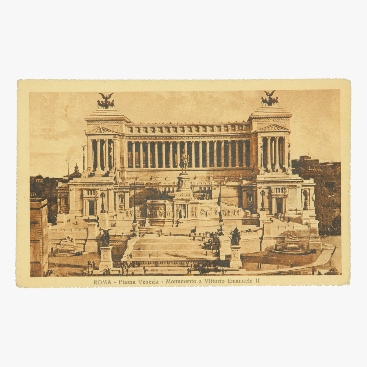 Afbeeldingen van Roma-Piazza Venezia. Monumento a Vittorio Emanuele II. Postkaart Nr. 034-21