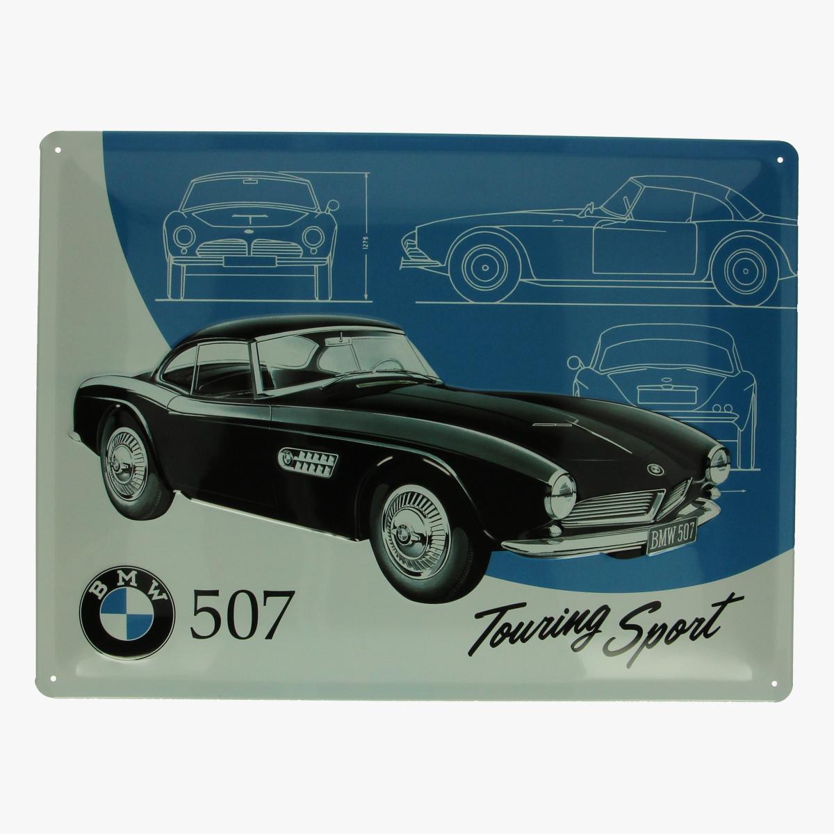Afbeeldingen van blikken bord BMW 507 Touring sport repro