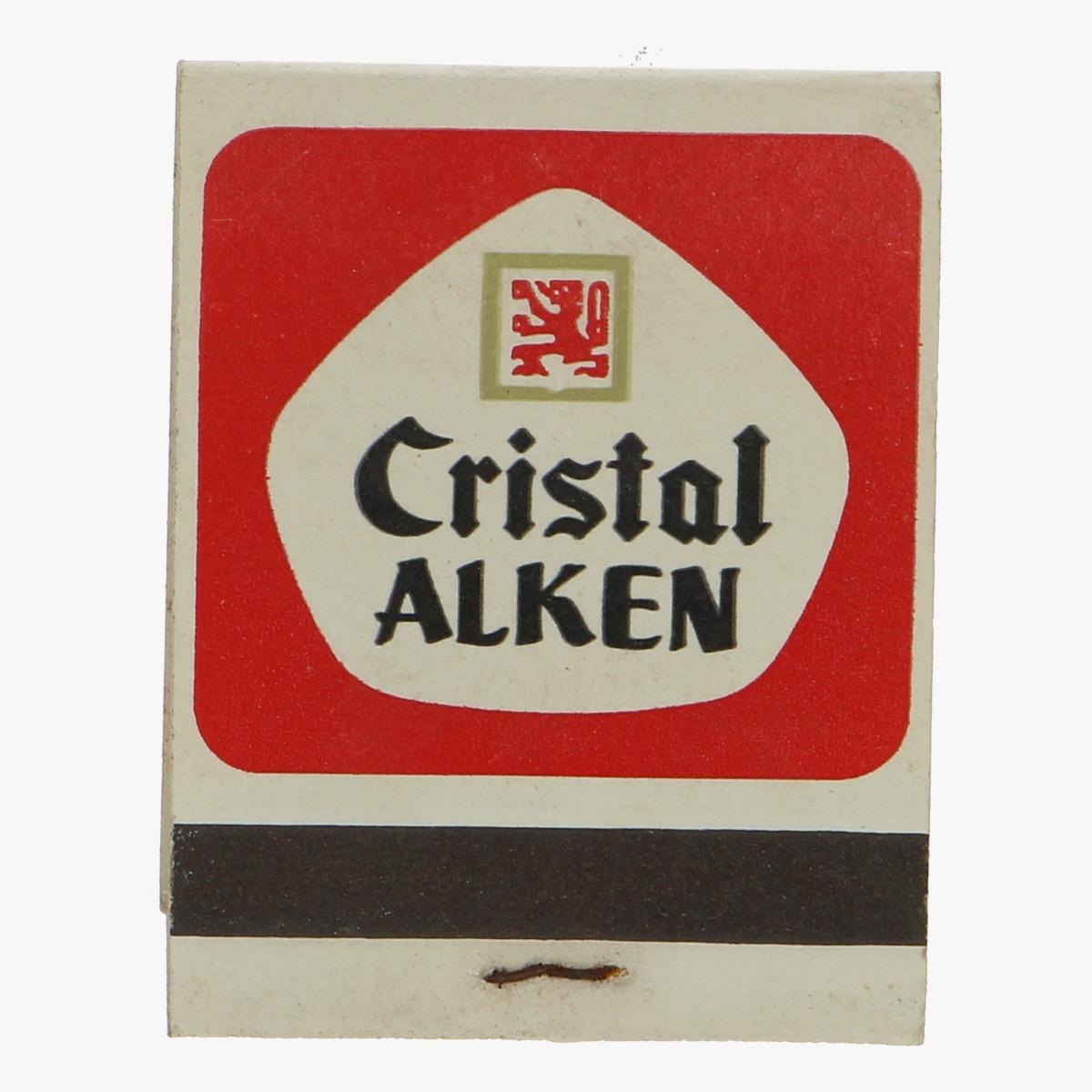 Afbeeldingen van oud doosje lucifers Cristal Alken