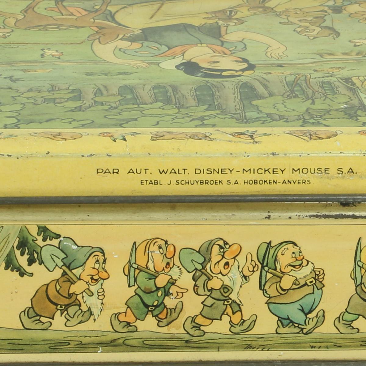 Afbeeldingen van Sneeuwwitje. Walt Disney. Blikken doos met sleuteltje