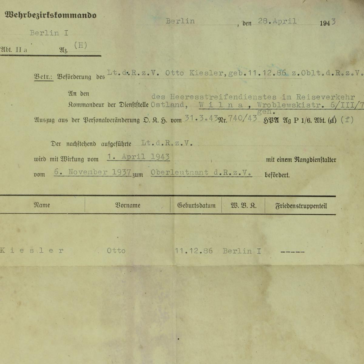 Afbeeldingen van Behrbezirsssommando 1943