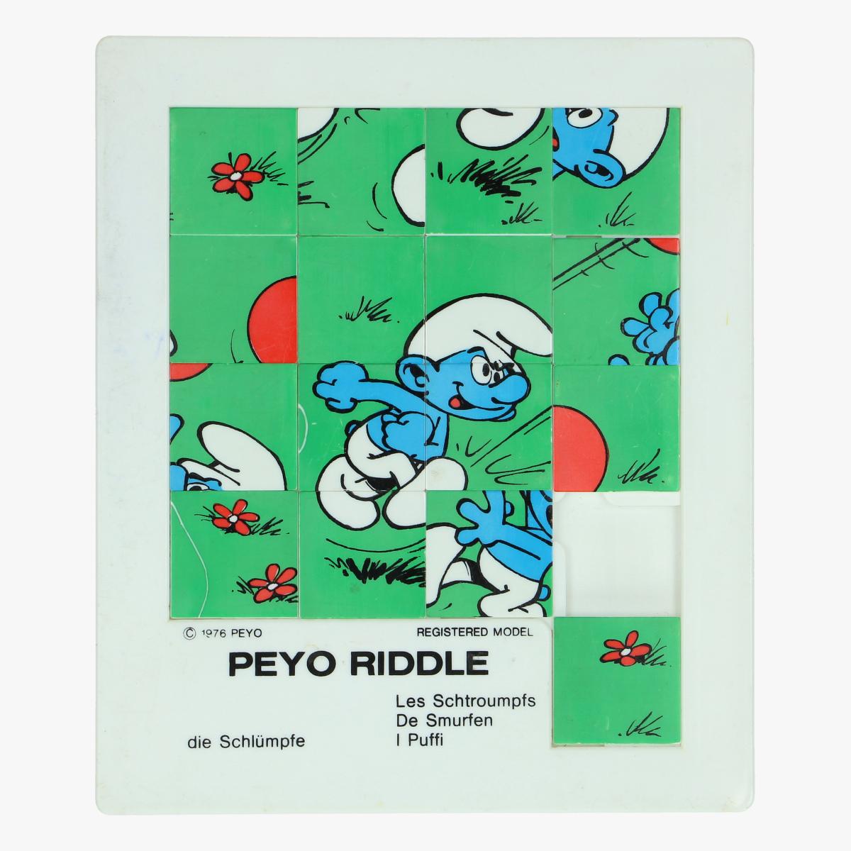 Afbeeldingen van smurfen peyo riddle  1976 made in belguim