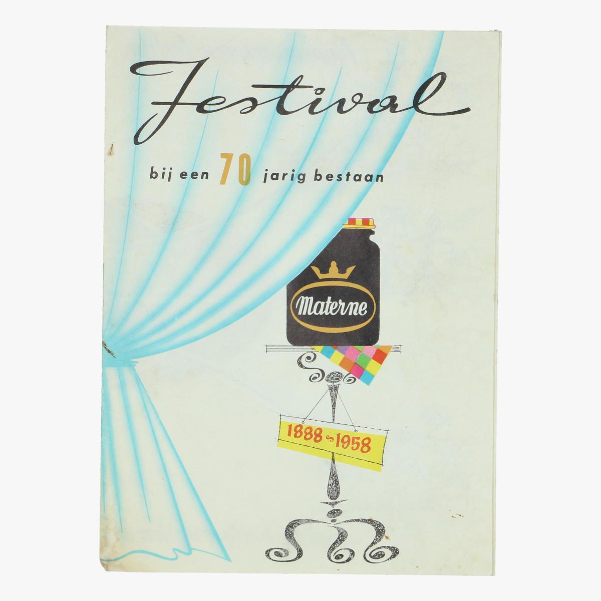 Afbeeldingen van expo 58 festival bij een 70 jarig bestaan 1958 Materne
