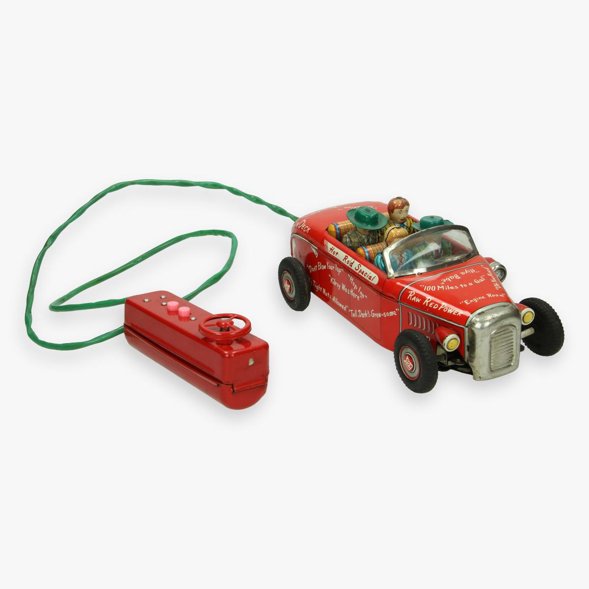 Afbeeldingen van tin toy hot rod special jaren 50 college jalopy line mar toys