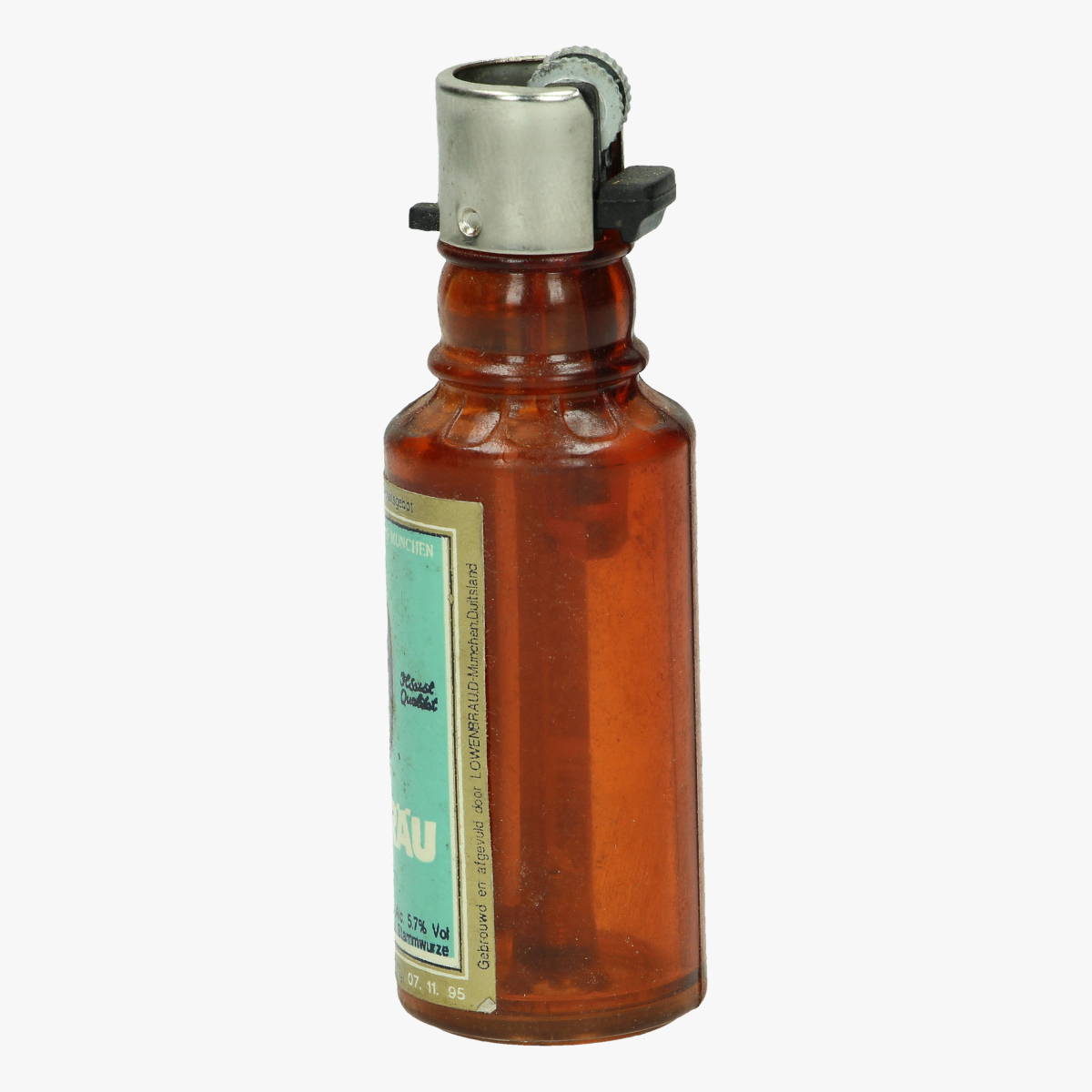 Afbeeldingen van aansteker flesje lowenbrau navulbaar