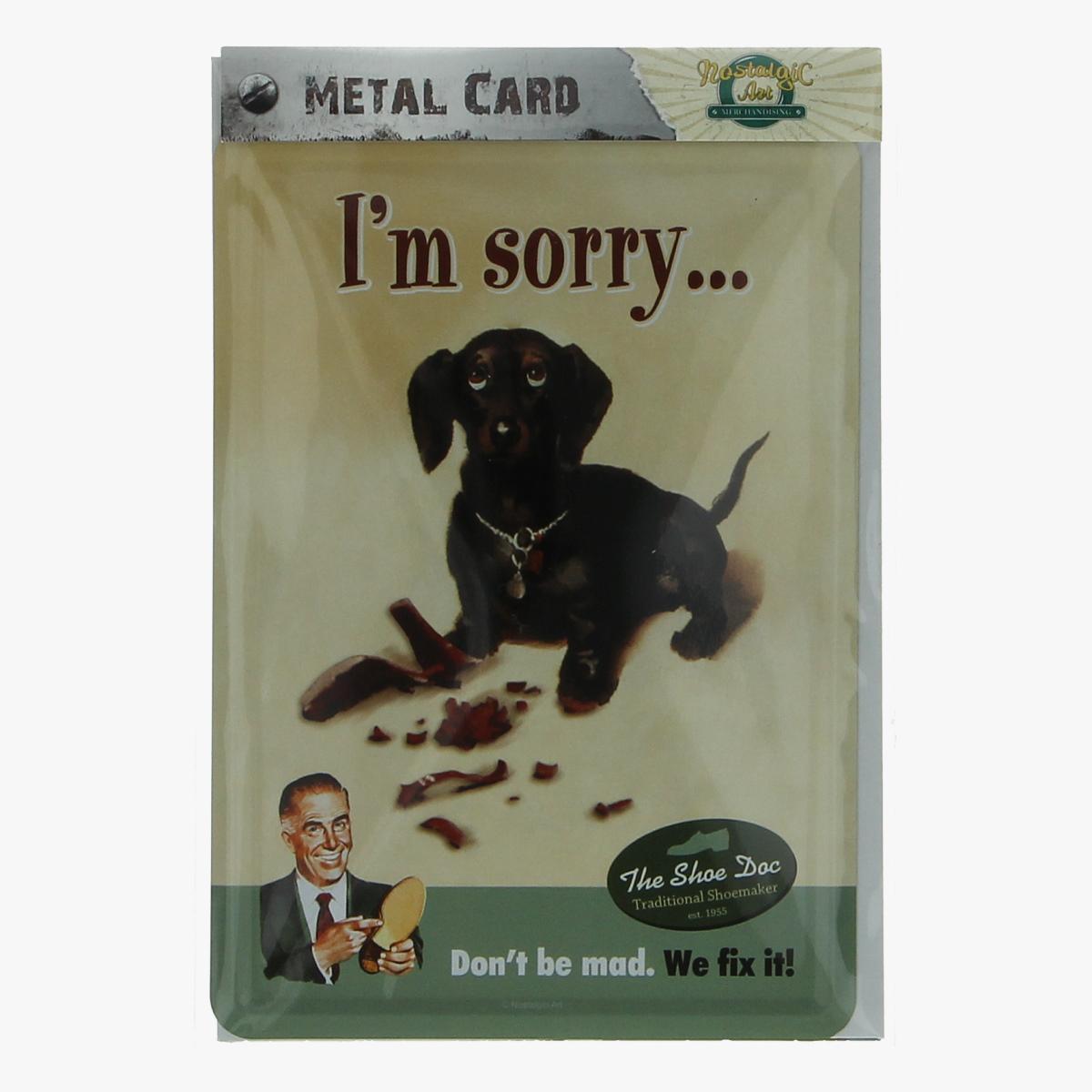Afbeeldingen van metal card i'm sorry