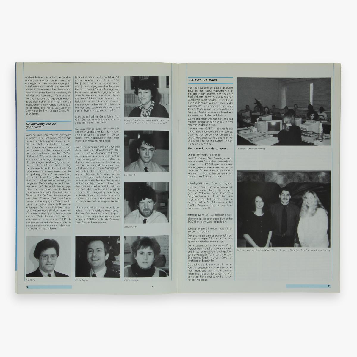 Afbeeldingen van sabena magazine onze sabena n° 549 maart 1993