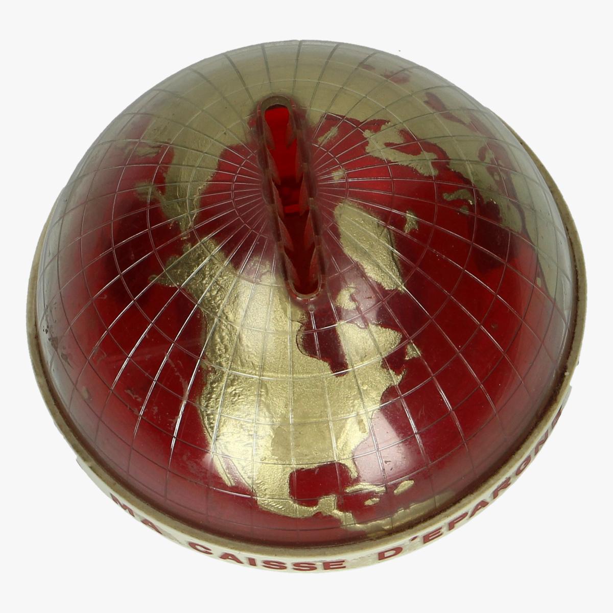 Afbeeldingen van spaarpot wereldbolletje