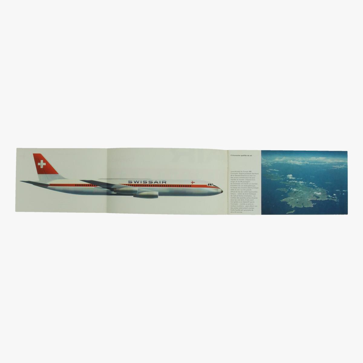 Afbeeldingen van folder swissair -  convair 990 - coronade