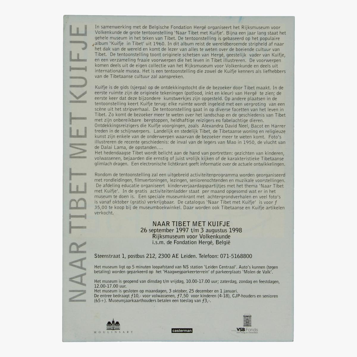 Afbeeldingen van Pamflet Kuifje Rijksmuseum Leiden 1997