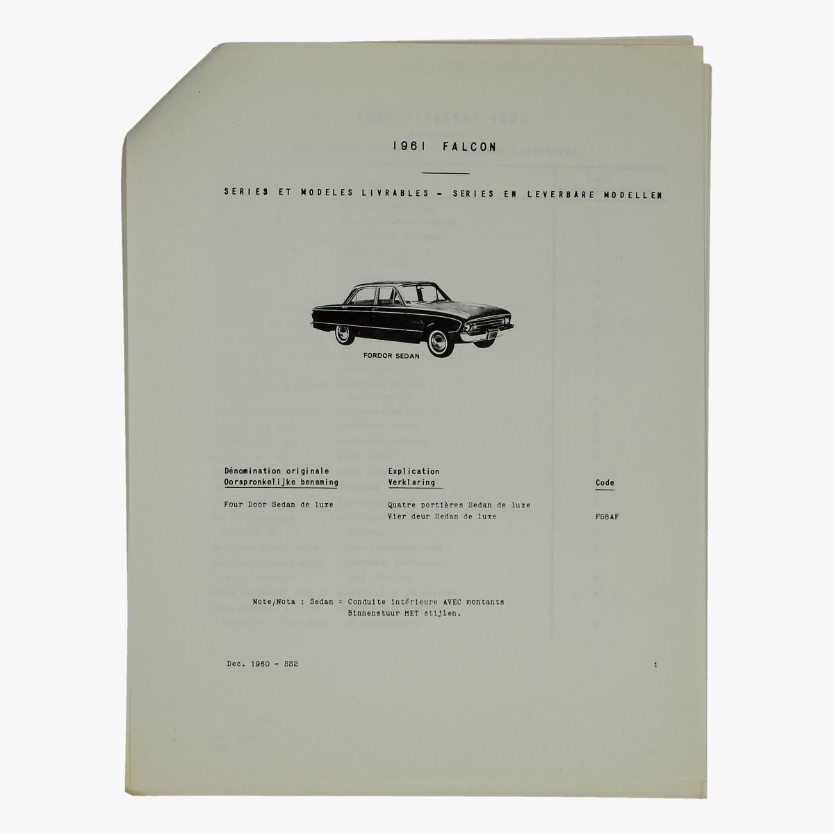 Afbeeldingen van oude folder falcon 1961 ford motor company