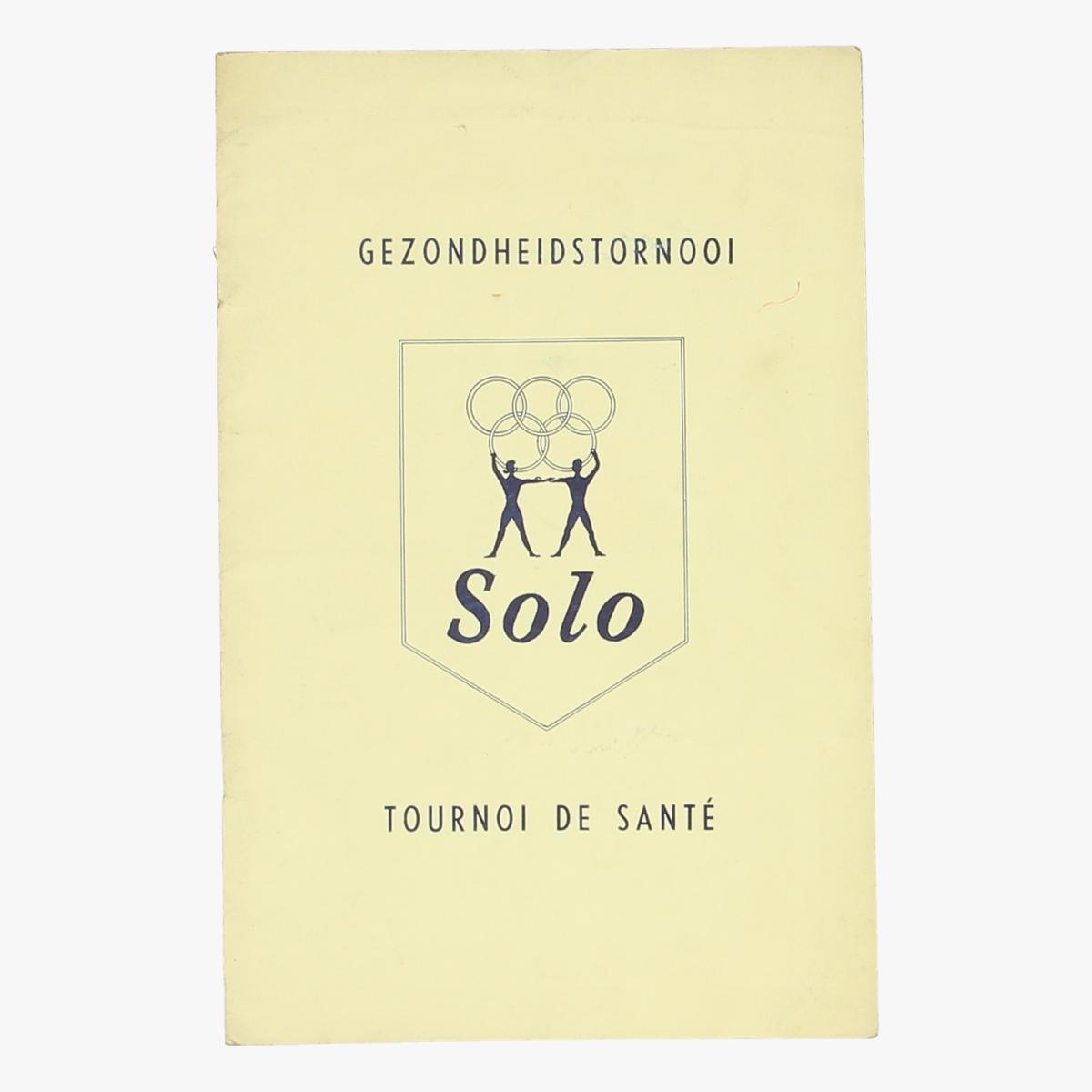 Afbeeldingen van boekje gezondheidstornooi Solo