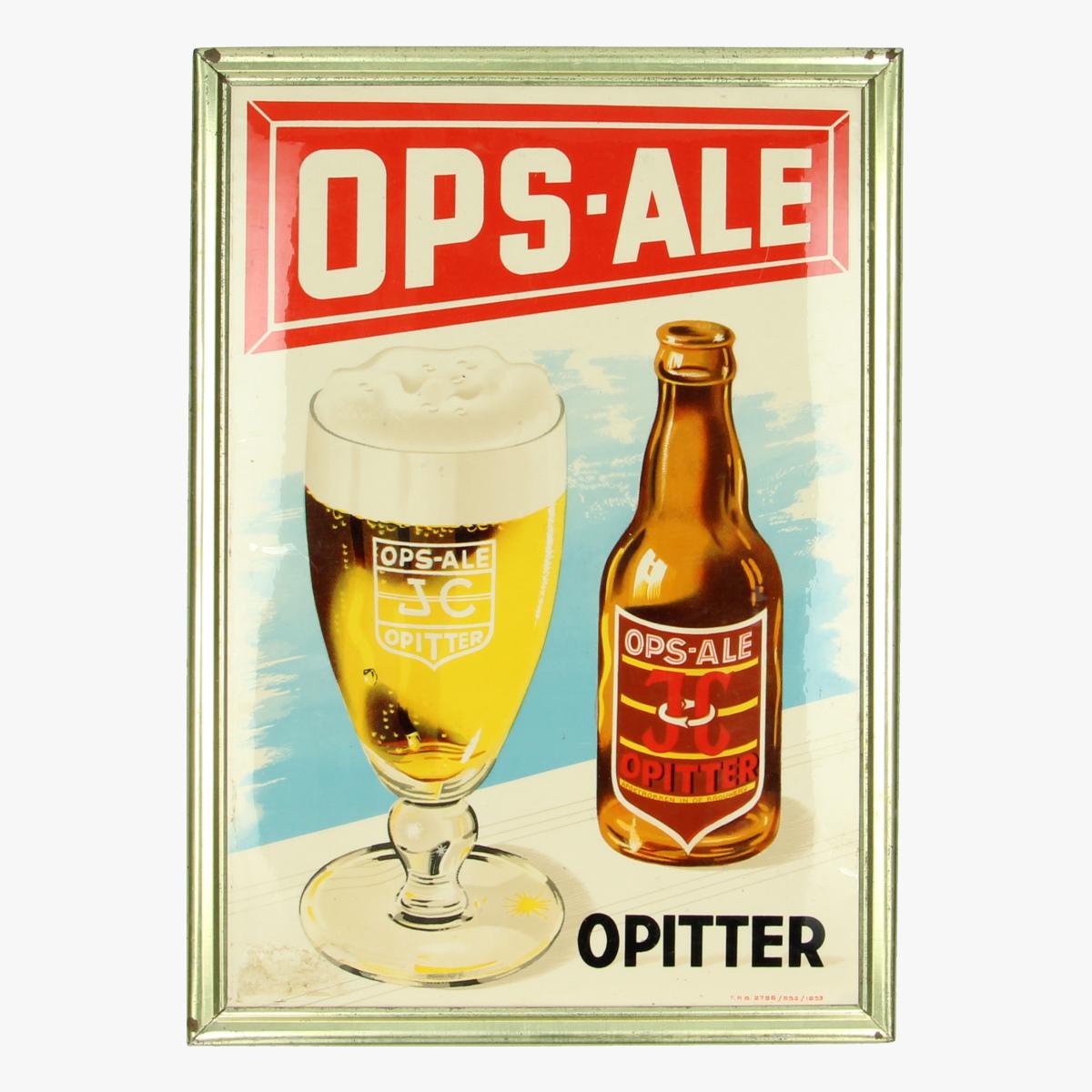 Afbeeldingen van Opitter Ops-Ale reclame pancarte