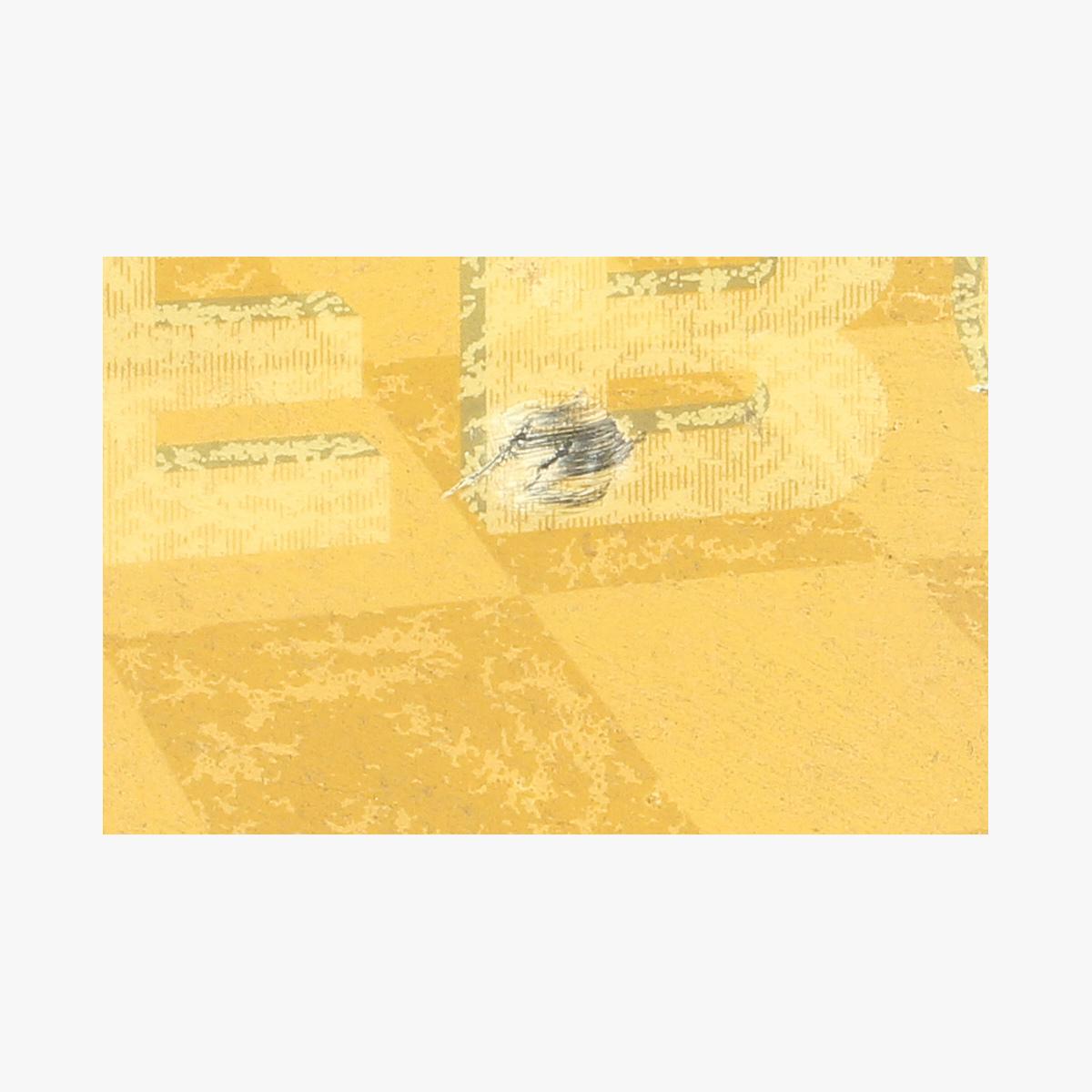 Afbeeldingen van blikken reclame bordje GEBO BREE 1946